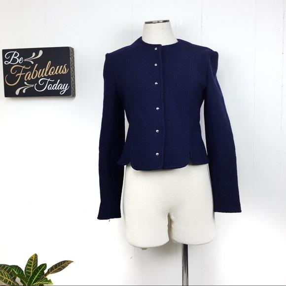 Larry Levine Jackets & Blazers - Vintage Larry Levine Navy Blue Jacket
